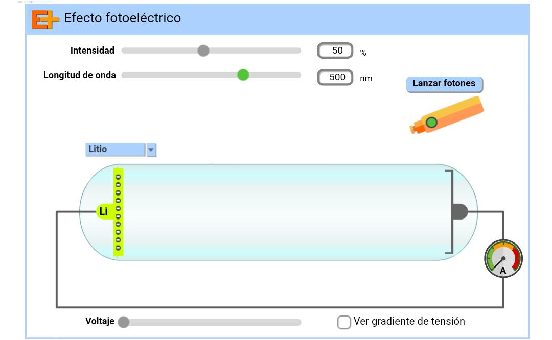 Simulador del efecto fotoeléctrico
