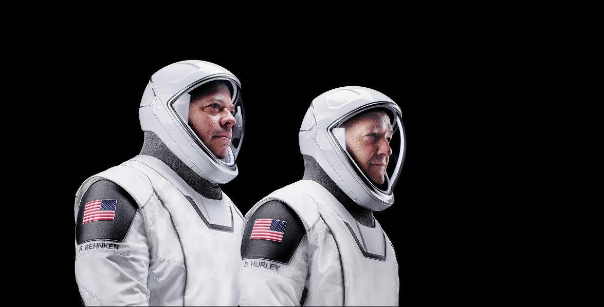 Astronautas Doug Hurley y Bob Behnken.