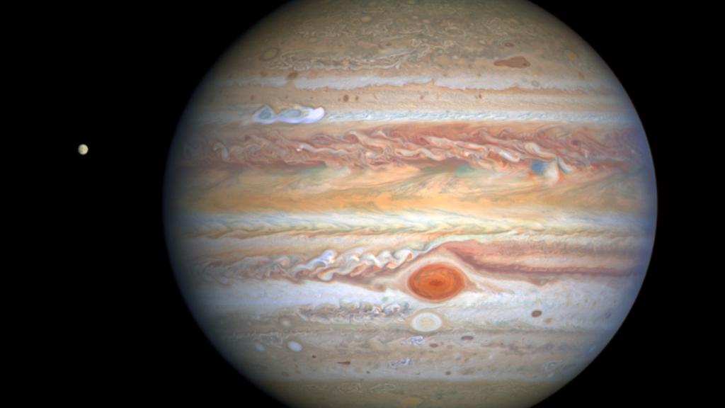 Nueva imagen de Júpiter tomada por el Hubble