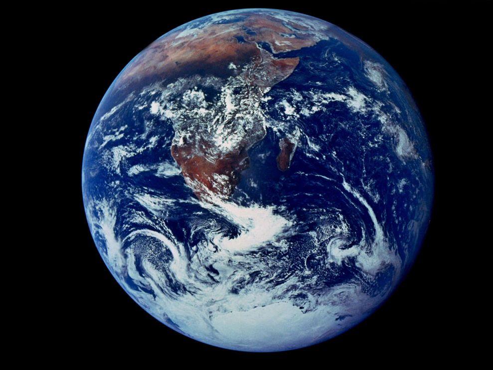 Foto de la Tierra. La-canica-azul.
