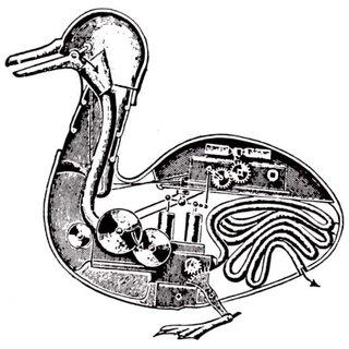 Claude Bernard. Pato mecánico. El mecanicismo expresa que los fenómenos de la vida están regidos por la física y química.